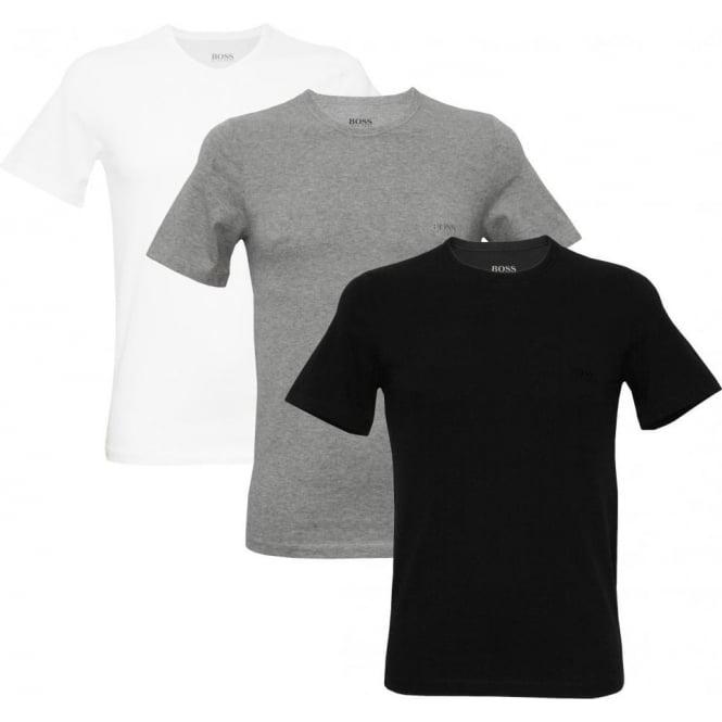 Hugo Boss 3-Pack Crew-Neck Men's T-Shirts, Black/White/Grey | eBay