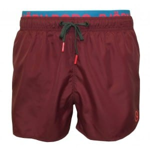 Bjorn Borg purple double-waistband swim shorts
