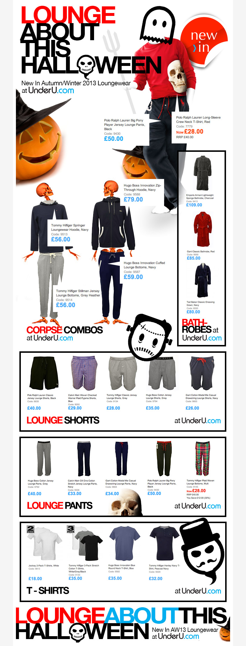 Men's Loungewear at UnderU.com