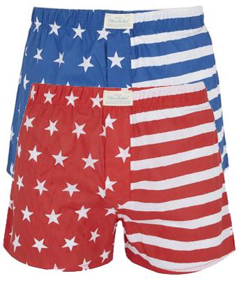 Oiler & Boiler stars and stripes boxer shorts