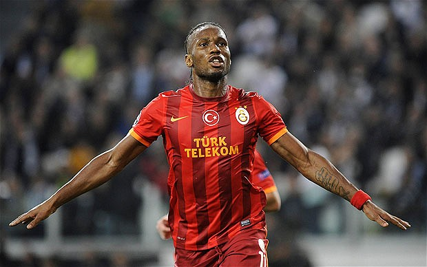 Didier Drogba of Galatasaray signs for HOM underwear
