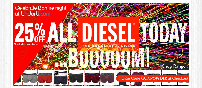 Diesel Underwear Voucher Code