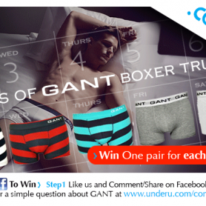 Gant underwear competition at UnderU.com