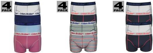 Oiler & Boiler 4-pack boxer trunks SS14 at UnderU