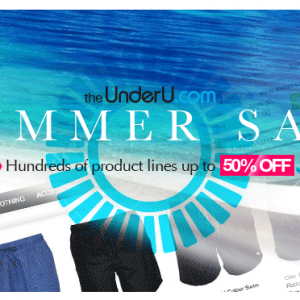 UnderU Summer Sale - underwear, swimwear, more - 50% off