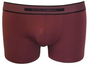 Dolce & Gabbana burgundy polka dot boxer trunk