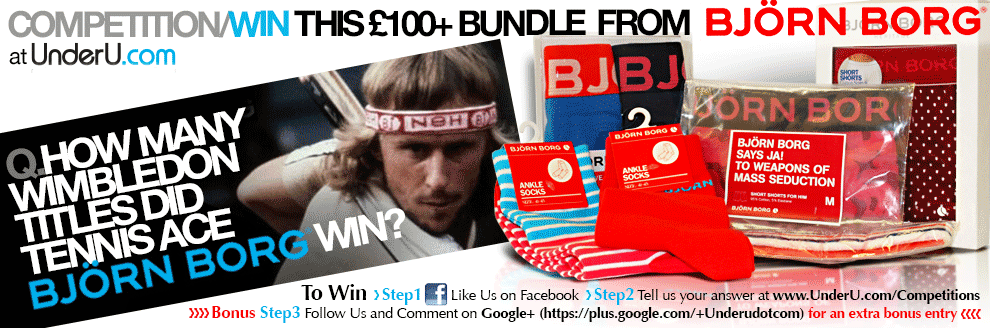 Bjorn Borg Underwear Competition - enter at UnderU.com