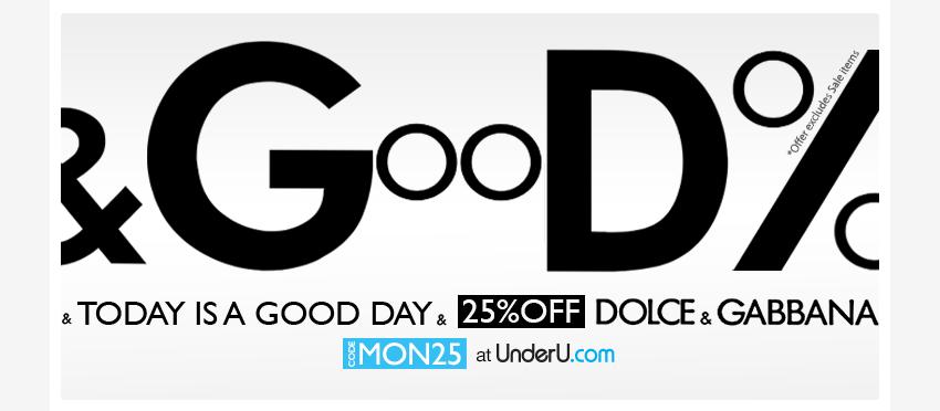 Dolce & Gabbana Day - 25% off underwear