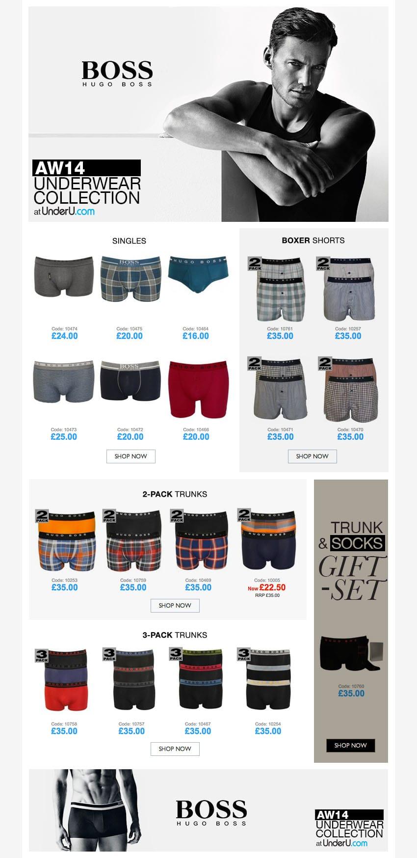 Hugo Boss Underwear AW14 | UnderU