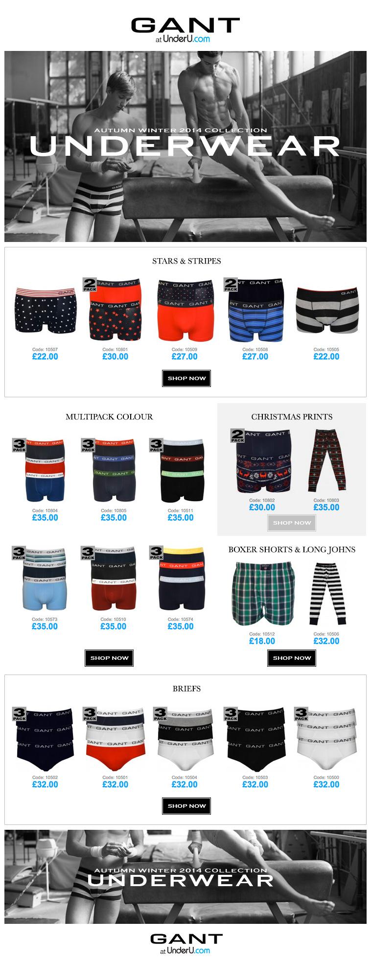 Gant Underwear Collection AW14 | UnderU