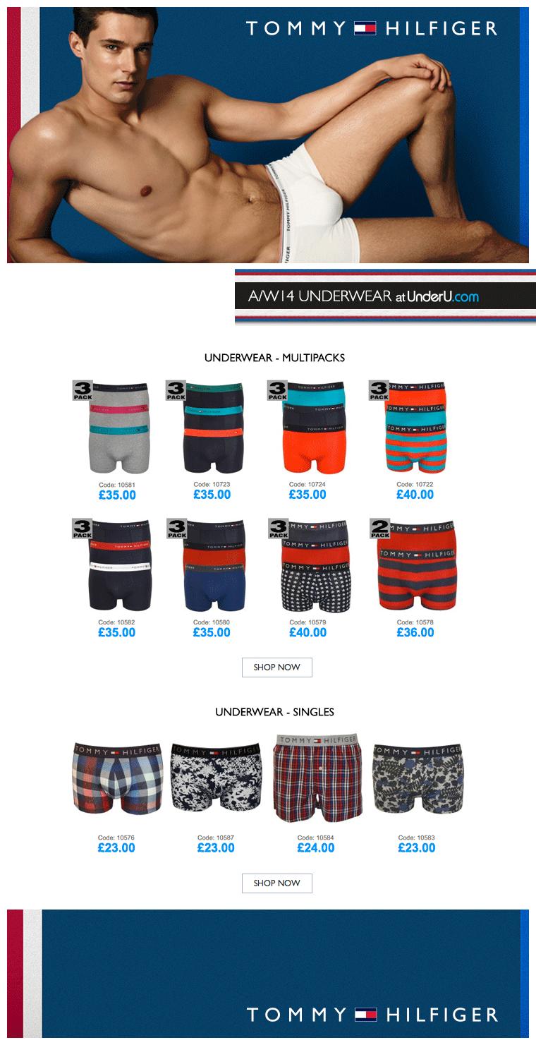 Tommy Hilfiger Underwear AW14 Collection | UnderU