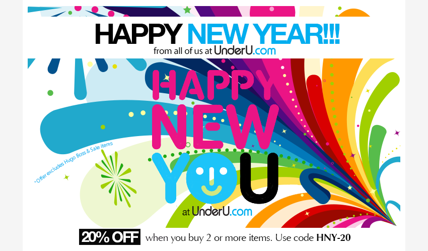 Happy New You - Treat your men's underwear drawer this new year... | UnderU
