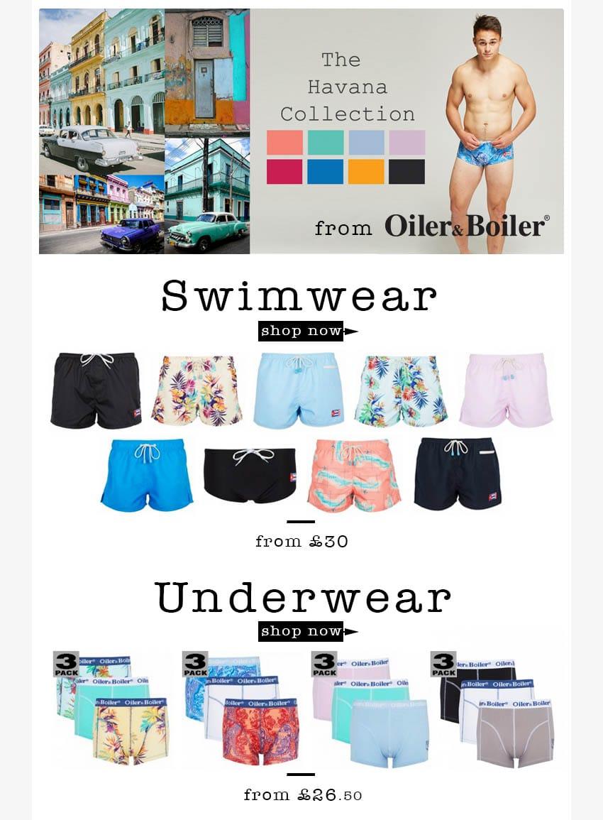 Oiler & Boiler Men's Swimwear & Oiler & Boiler Underwear | UnderU