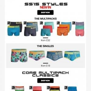 Bjorn Borg underwear SS15 new-in