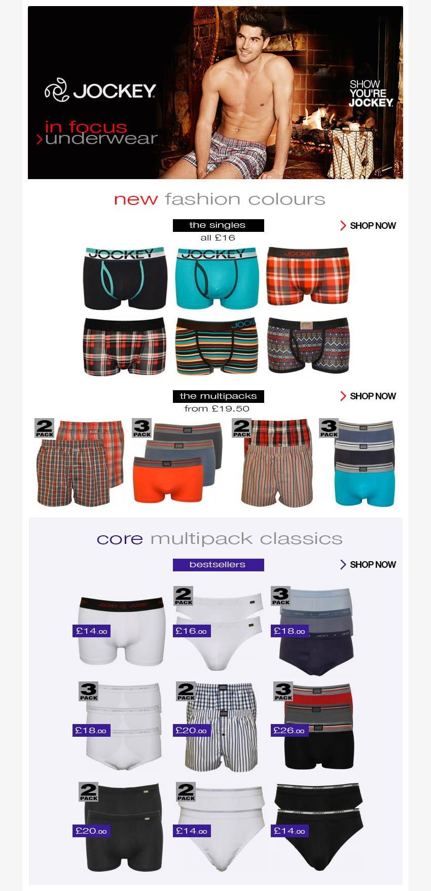 Jockey underwear SS15 Collection in focus | UnderU