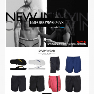 Emporio Armani SS15 Swim Shorts collection