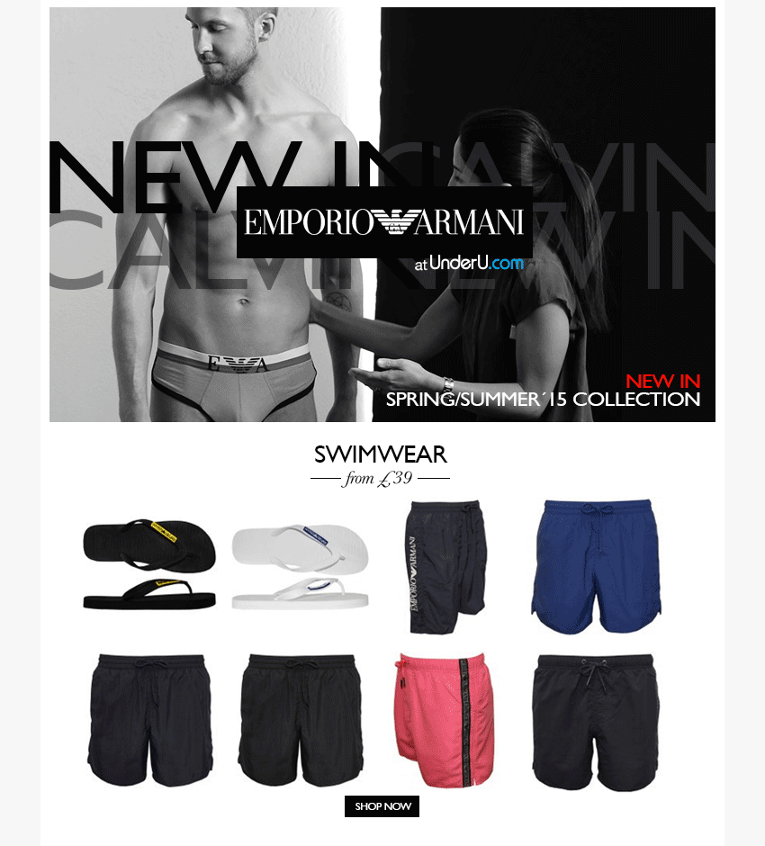 Emporio Armani Swim Shorts Collection | UnderU