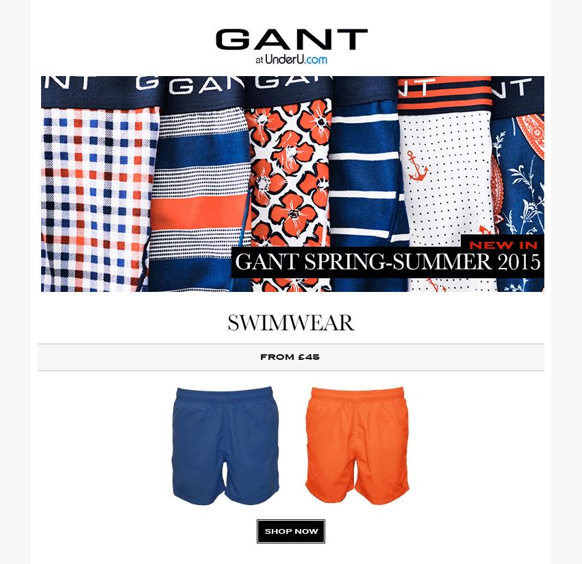 GANT Swim Shorts SS15 Collection | UnderU