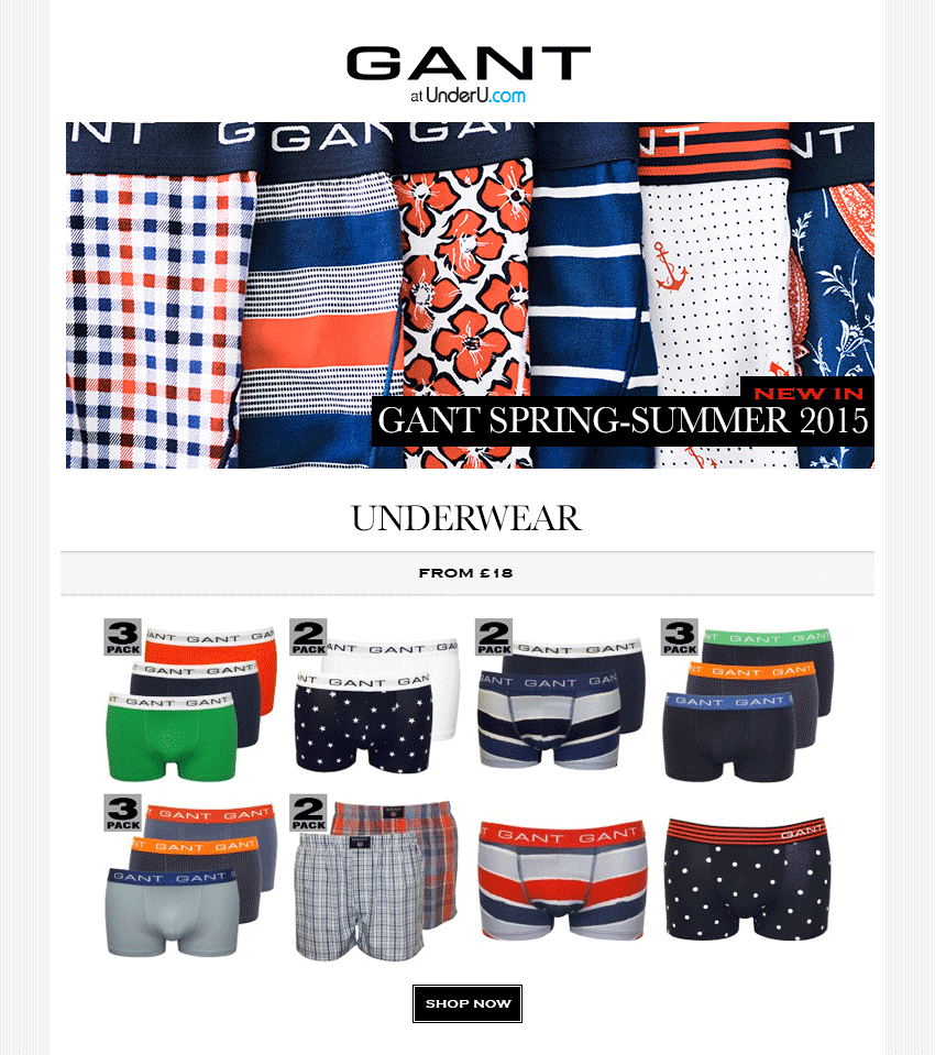 GANT Underwear SS15 Collection | UnderU