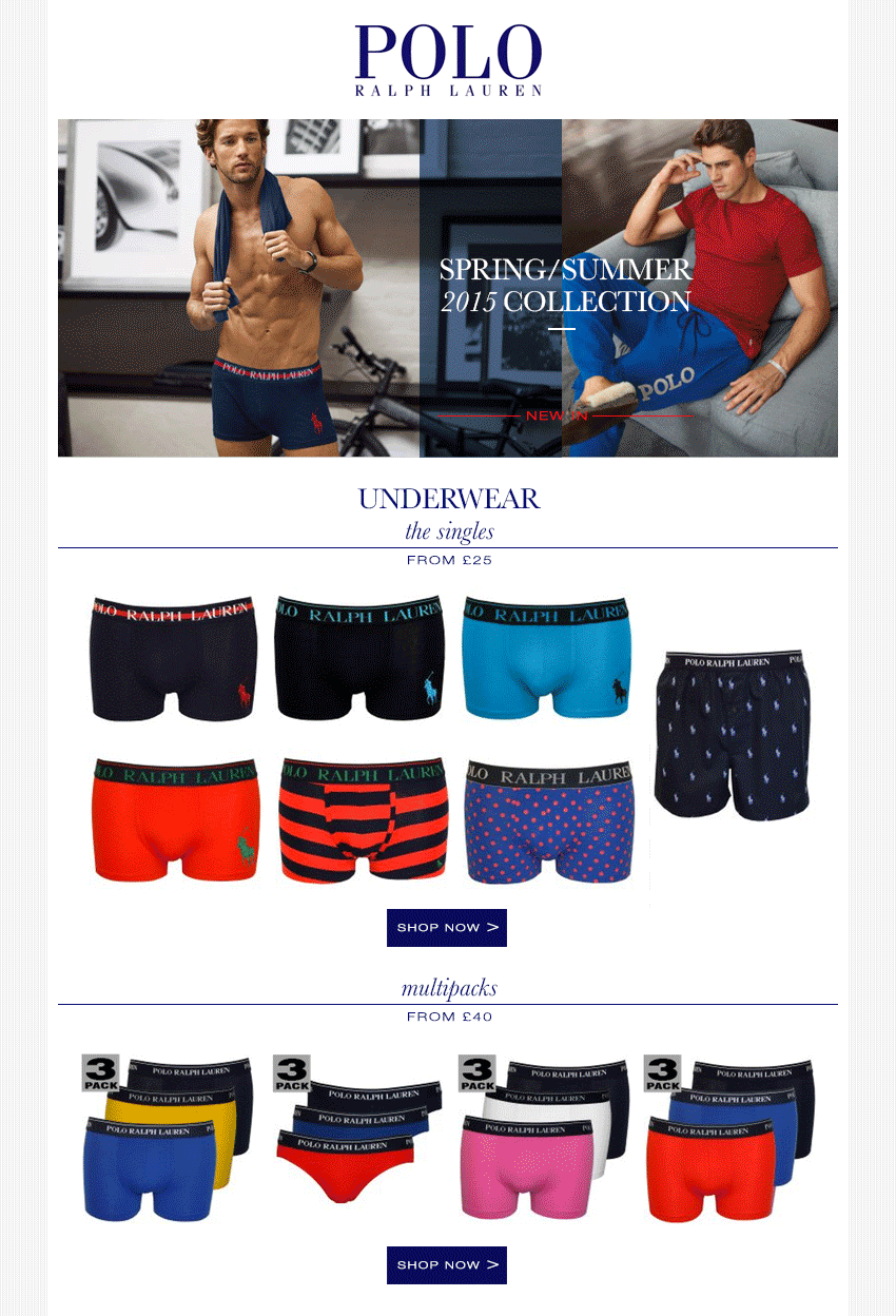 Polo Ralph Lauren Underwear Collection SS15 | UnderU