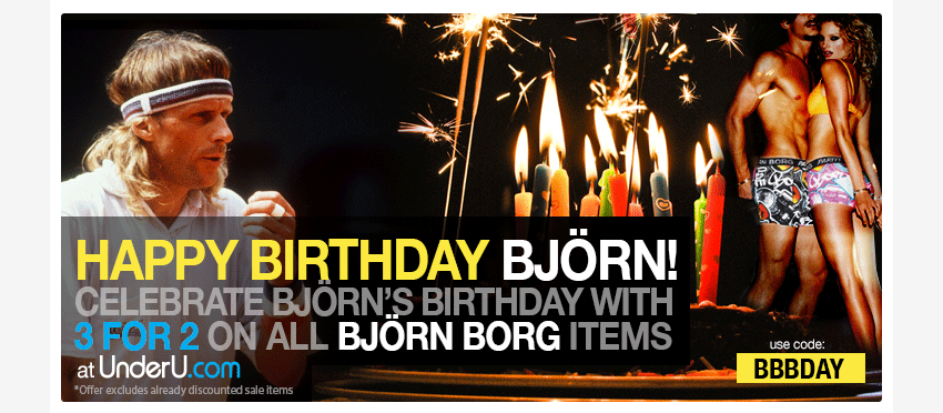 Bjorn Borg Underwear Birthday Offer | UnderU
