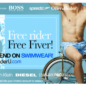 Free £5 off men's swimwear at UnderU
