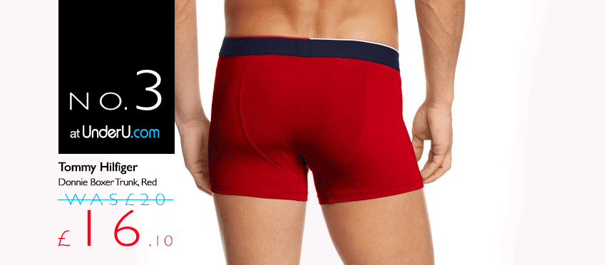 Tommy Hilfiger Donnie Boxer Trunks in Red | UnderU