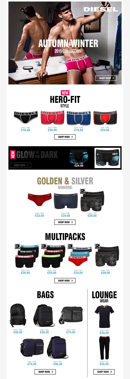 Diesel Underwear and Diesel Boxers Collection AW15 | UnderU