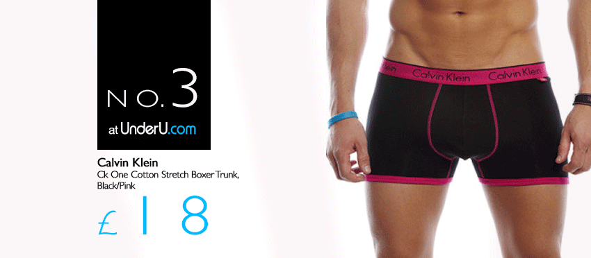 Calvin Klein Boxers in Black with a Pink Waistband | UnderU