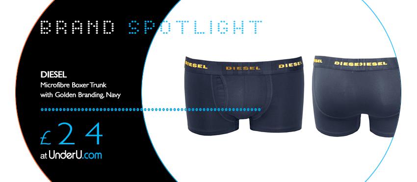 Diesel Underwear & Diesel Boxer Trunks now available at UnderU