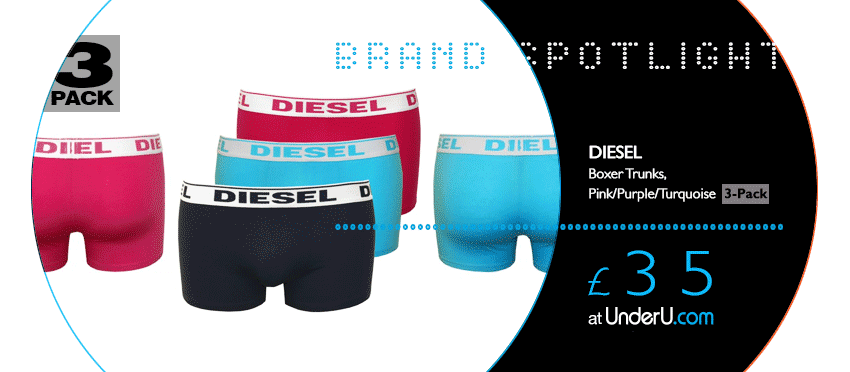 Vibrant Diesel Boxers and Boxer Shorts available at UnderU