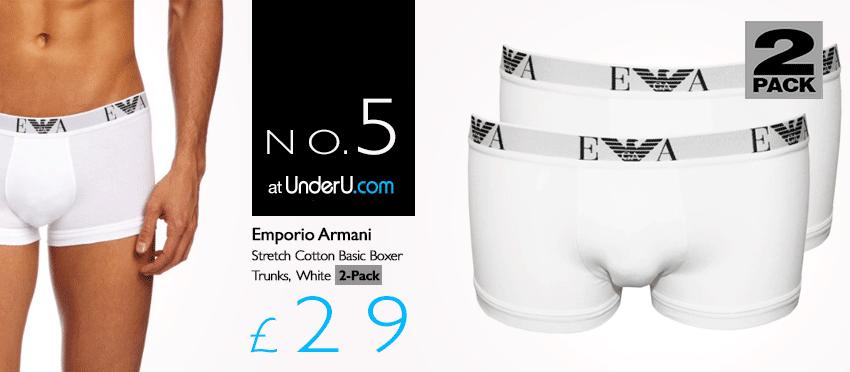 Emporio Armani White Boxer Shorts | UnderU
