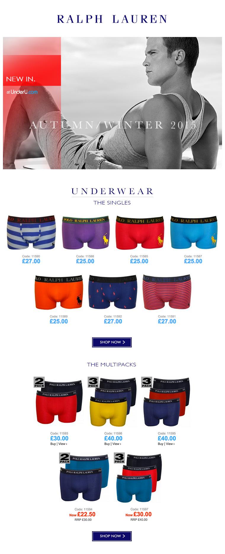 Polo Ralph Lauren Underwear - AW15 collection | UnderU