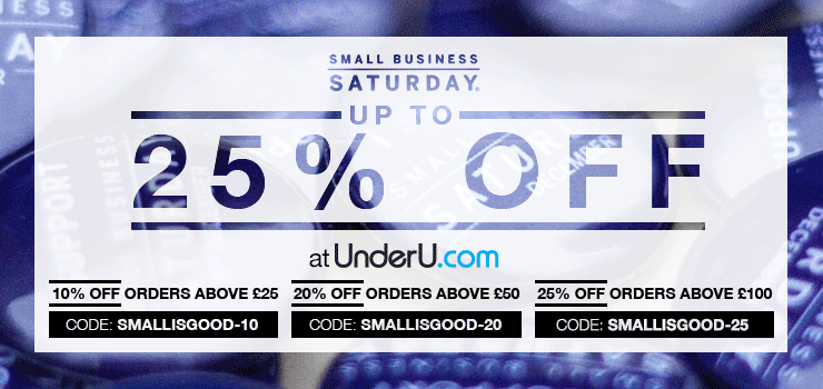 Small Business Saturday | The leading men's underwear specialists | UnderU