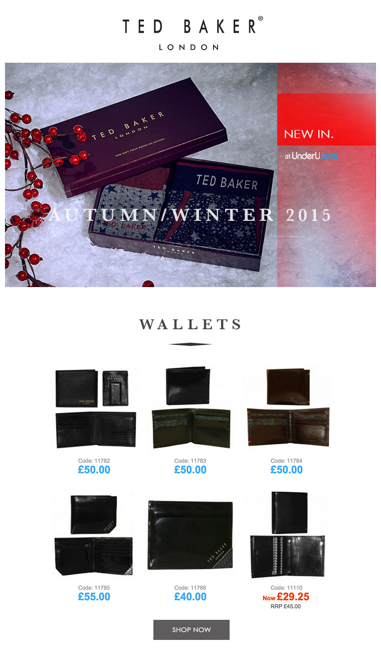 Ted Baker Men's Wallets & Ted Baker Men's Underwear | UnderU