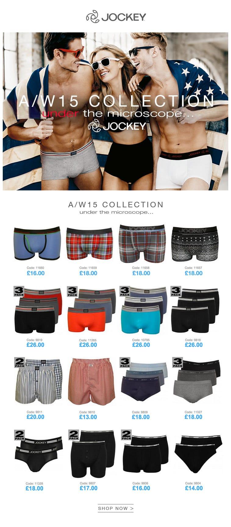 Jockey underwear & Jockey Boxer AW15 collection | UnderU