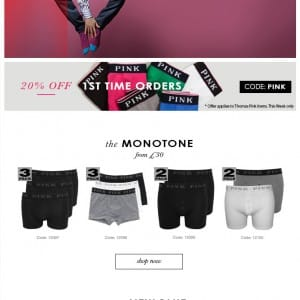 Thomas Pink underwear