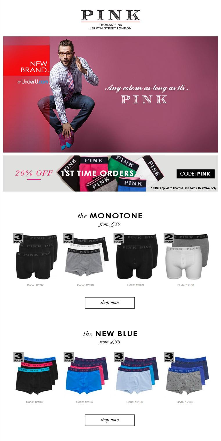 Thomas Pink underwear | UnderU