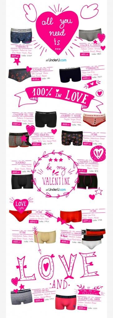 Men's Underwear & Designer Men's Underwear valentines guide | UnderU
