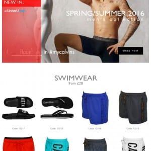 Calvin Klein Swimwear SS16 - UnderU