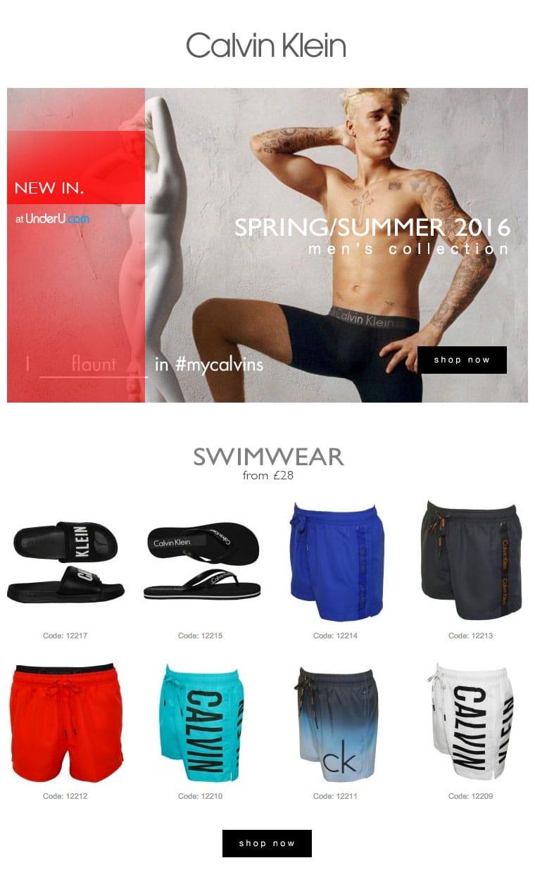 Calvin Klein Men's Swimwear SS16 | UnderU