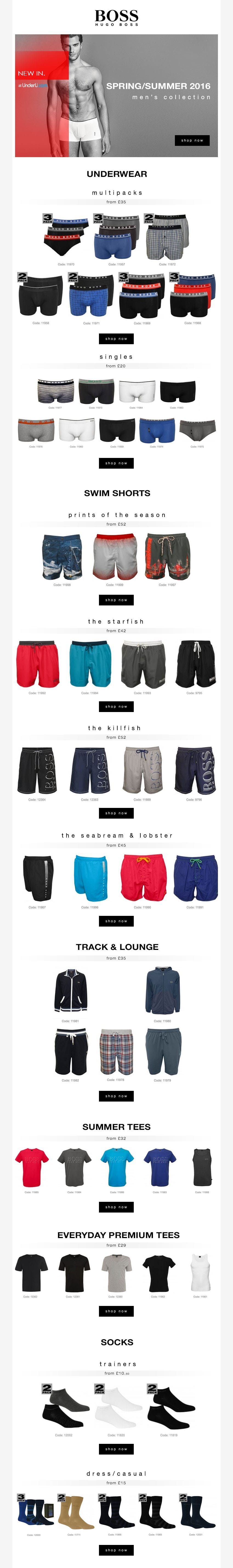 Hugo Boss Underwear & Hugo Boss Swimwear Collection 2016 | UnderU