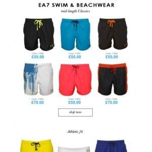 Emporio Armani SS16 Swimwear Blog