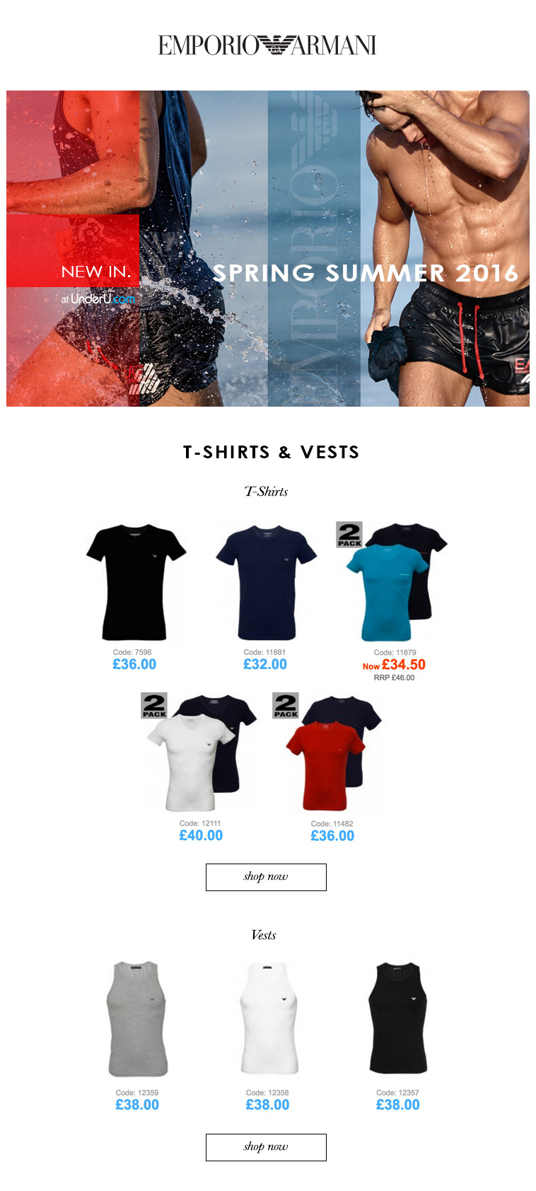Emporio Armani Men's T-Shirts | Blog News | UnderU
