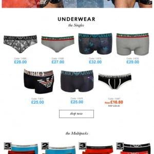 Emporio Armani SS16 Underwear Blog
