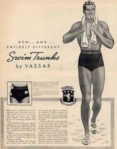 1930s Men's Swim Trunks | Men's Swimwear | UnderU
