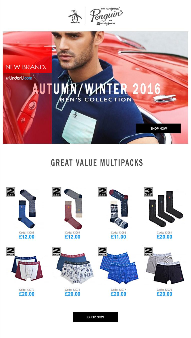 Penguin underwear AW16 Now Available at UnderU.com | UnderU