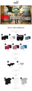 Puma men's underwear