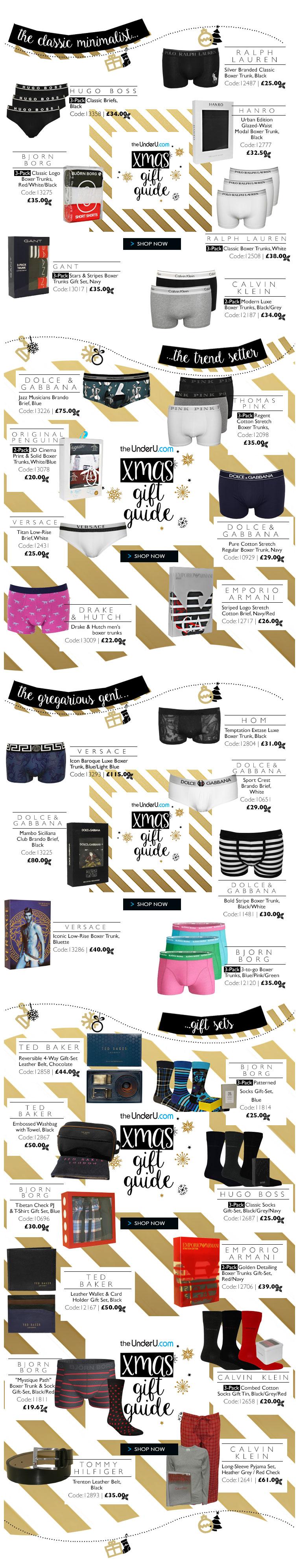 men's underwear christmas gift guide