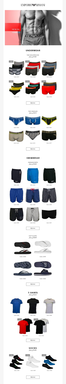 Emporio Armani underwear SS17